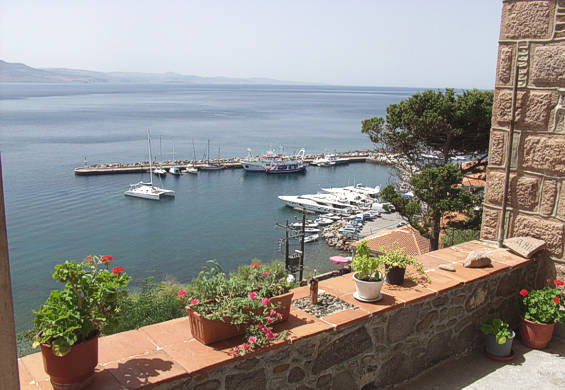 Stunning views from VILLA ANNIE from Molivos Bay and its picturesque harbour